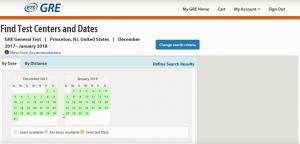 WORD UP 背單字 app - 線上報名GRE 選取考試日期