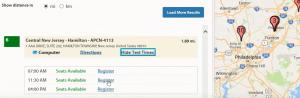WORD UP 背單字 app - 線上報名GRE 選取適當的時間以及考場