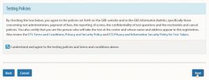 WORD UP 背單字 app - 線上報名GRE - 確認所選取的考試資訊 -2