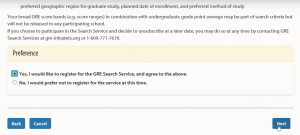 WORD UP 背單字 app - GRE選取是否註冊GRE Search Service -2