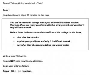WORD UP雅思 IELTS 題型、測驗方式、介紹、考試時間 - 一般雅思寫作範例試題(General)